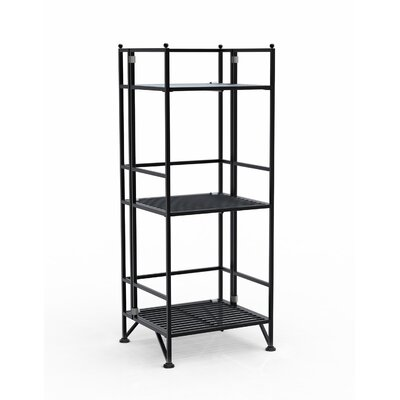 Convenience Concepts XTRA Storage 3 Tier Folding Shelf in Black
