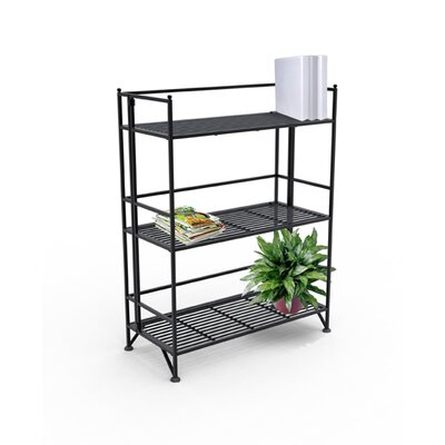 Convenience Concepts XTRA Storage 3 Tier Wide Folding Shelf in Black