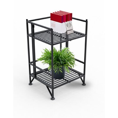 Convenience Concepts XTRA Storage 2 Tier Folding Shelf in Black