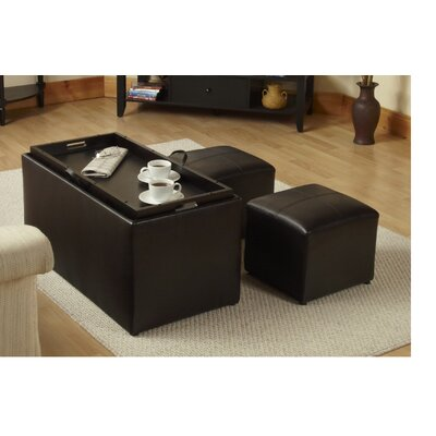Storage Ottoman Furniture Coffee Cocktail Table Bench Upholstered Leather Large Ebay