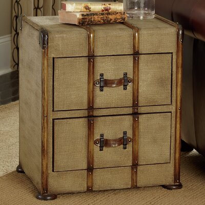 Hidden Treasures Canvas 2 Drawer Chest