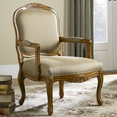 Hammary Hidden Treasures Hand-Carved Fabric Arm Chair