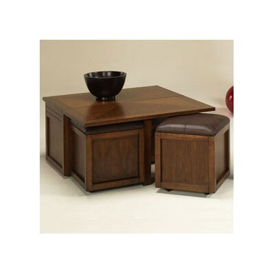 Hammary Nuance Coffee Table Set with Ottoman