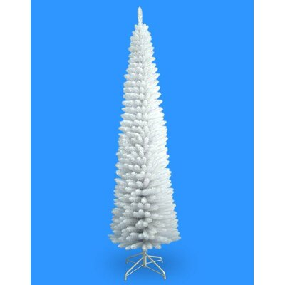 7' White Pencil Artificial Christmas Tree