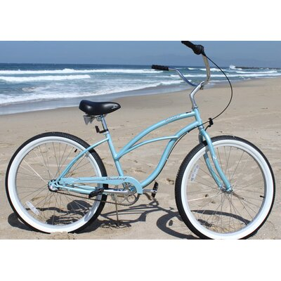 "Beachbikes Women's Urban Lady 24"" 3 Speed Beach Cruiser Bike"