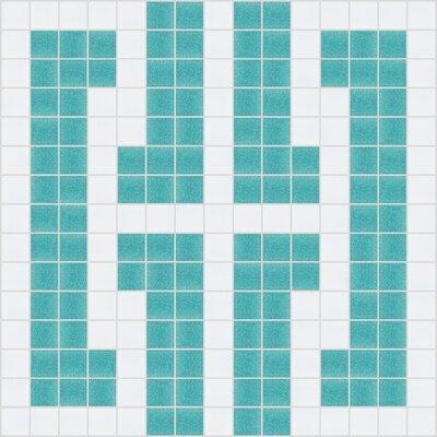 Mosaic Loft Urban Essentials Bold Chain Mosaic Pattern Tile in Deep Teal