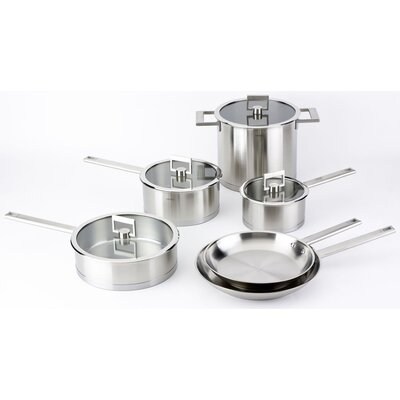 Cristel Strate Fixed Handle 10-Piece Cookware Set