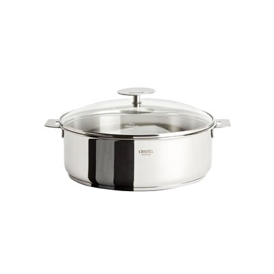 Cristel Casteline Removable Handle Saute Pan with Lid