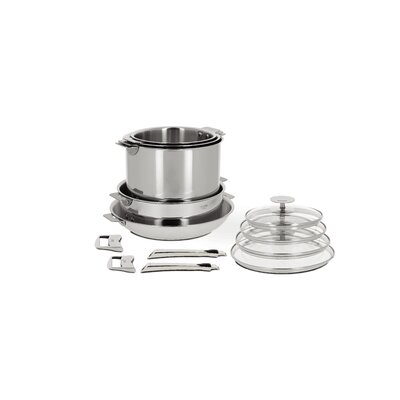 Cristel Casteline 13-Piece Cookware Set with Optional Handle