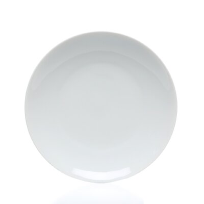 "Ten Strawberry Street Royal Coupe White Oversized 8"" Salad Plate"