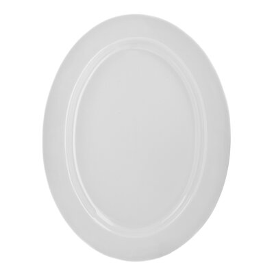 "Ten Strawberry Street Classic White 14"" Oval Platter"