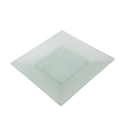 "Ten Strawberry Street Sheer Frosted 8"" Square Platter"