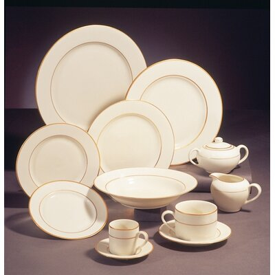 Ten Strawberry Street Cream Double Gold Dinnerware Set