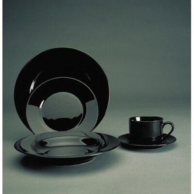Ten Strawberry Street Black Rim Dinnerware Collection