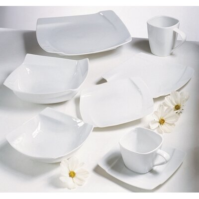 Ten Strawberry Street Nouve Square Dinnerware Set