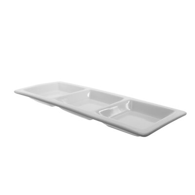 Ten Strawberry Street Whittier Small 3-Pocket Serving Tray