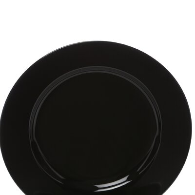 "Ten Strawberry Street Black Rim 6.75"" Bread and Butter Plate"