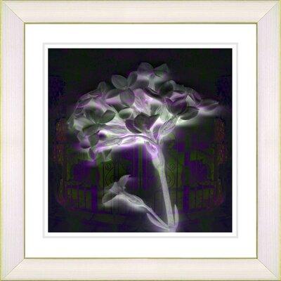 "Studio Works Modern ""Floral Montage"" by Zhee Singer Framed Giclee Print Fine Art in Purple"