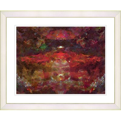 "Studio Works Modern ""Voice - Red"" by Zhee Singer Framed Fine Art Giclee Print"