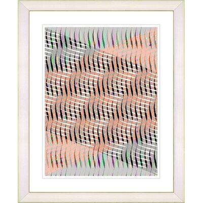 "Studio Works Modern ""Pastel Placidus - Orange"" by Zhee Singer Framed Fine Art Giclee Print"