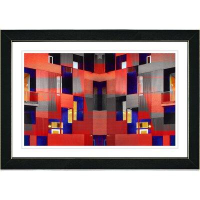"Studio Works Modern ""Atrium Labyrinth"" by Zhee Singer Framed Graphic Art"
