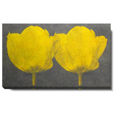 Studio Works Modern Twin Tulips Gallery Wrapped by Zhee Singer Painting Print on Canvas