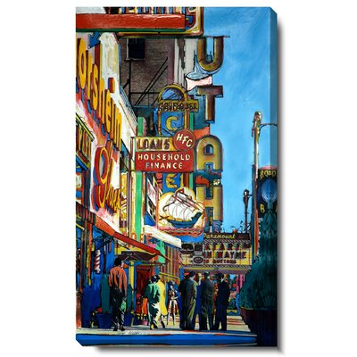 Utah City Street Gallery Wrapped by Zhee Singer Painting Print on Canvas