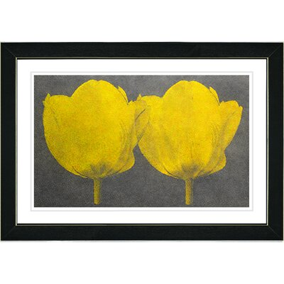 "Studio Works Modern ""Twin Tulips"" by Zhee Singer Framed Painting Print"