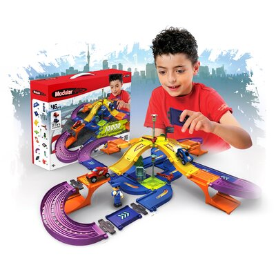 Modular Toys 46 Piece 3D Racetrack Kit