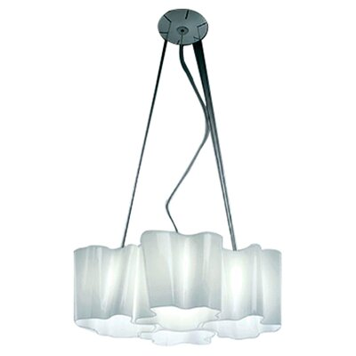 Artemide Logico 4 Light Quadruple Nested Suspension with Incandescent Bulbs