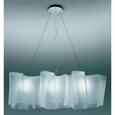 Artemide Logico 3 Light Triple Linear Suspension with Incandescent Bulbs