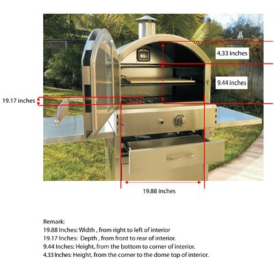 Pacific Living 22 8 Outdoor Pizza Oven Gas Grill With Cart Review