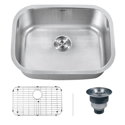 "Ruvati Parmi 25"" x 19"" Undermount Single Bowl Kitchen Sink"