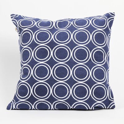 Latitude 38 Nautical Circle Cotton Pillow