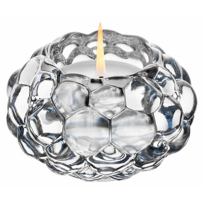 Orrefors Raspberry Crystal Votive
