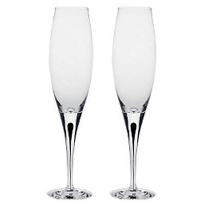 Orrefors Intermezzo Blue 3 oz. Flute Glass (Set of 2)