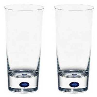 Orrefors Intermezzo Blue 11 oz. Tumbler Glass (Set of 2)