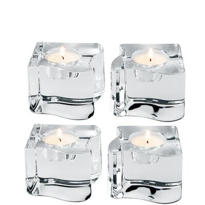 Orrefors Puzzle Crystal Votives