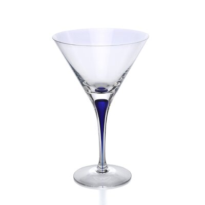 Orrefors Intermezzo Blue 7 oz. Martini Glass (Set of 2)