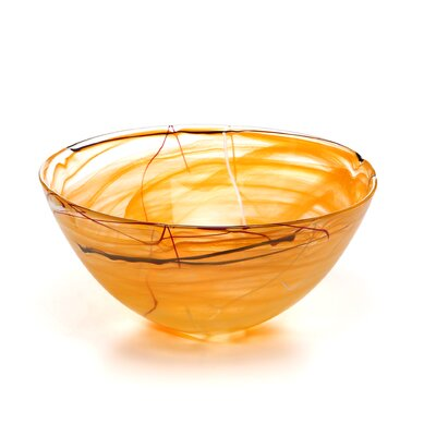 Kosta Boda Contrast Large Orange Bowl