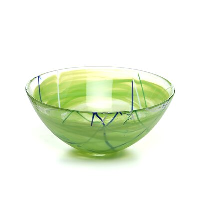 Kosta Boda Contrast Large Lime Bowl