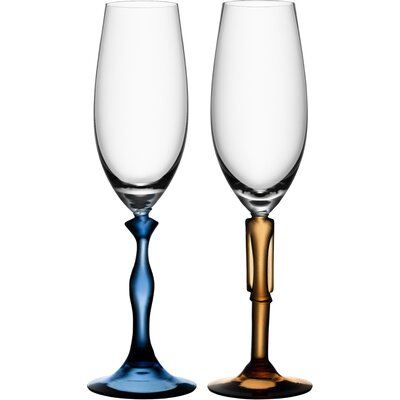 Kosta Boda Two Of Us Flute Glass(Set Of 2)