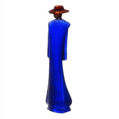 Kosta Boda Catwalk Man in Blue Trenchcoat Sculpture