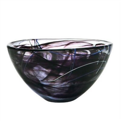 Kosta Boda Contrast Medium Black Bowl