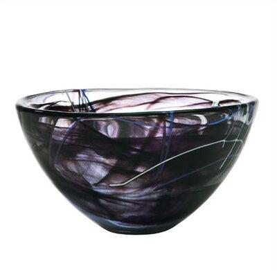Kosta Boda Contrast Medium Black Bowl