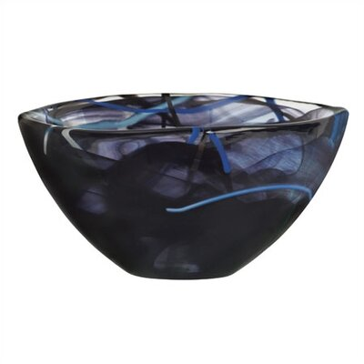 Kosta Boda Contrast Small Black Bowl