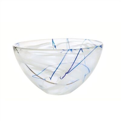 Kosta Boda Contrast Medium White Bowl
