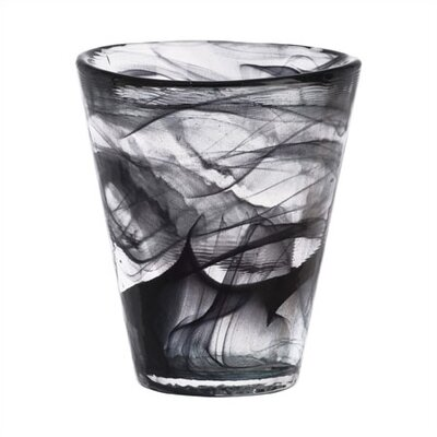 Kosta Boda Mine Black Tumbler Glass