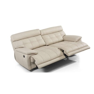 Eurosace Luxury Bugatti Leather Reclining Sofa