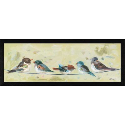 The Craft Room Five On a Wire Framed Painting Print